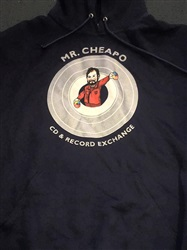 Mr Cheapo CDs - Navy Blue Hoodie Large