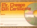 $20.00 Gift Certificate